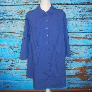 Lane Bryant Blue & White Striped Dress Size 18/20W